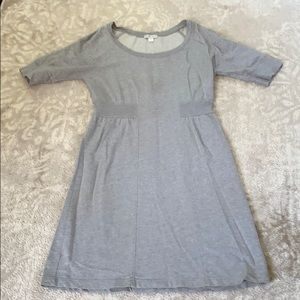 Garnet Hill grey sweatshirt dress
